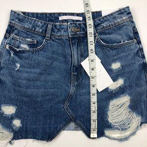 Zara Skirts - NWT Zara trf denim wear jean skirt